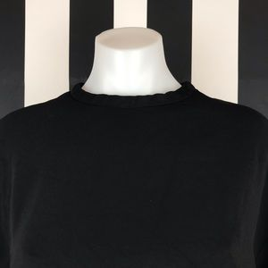 Celine Tops - Celine Black High Neck Flowy 3/4 Sleeve Blouse